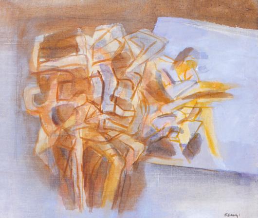 Grace Renzi : N° 116 : 1960's, watercolor on paper, 25 x 30 cm.