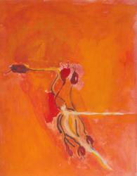 Grace Renzi : N° 149 : 1973, acrylic on paper, 32 x 25 cm.