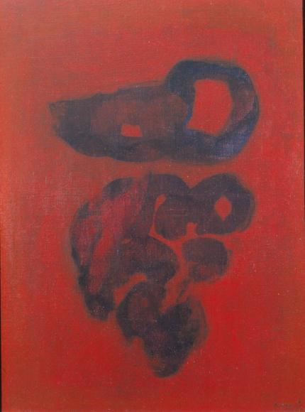 Grace Renzi : N° 199 : 1979 (or 1980's), acrylic on canvas, 25 x 20 cm.