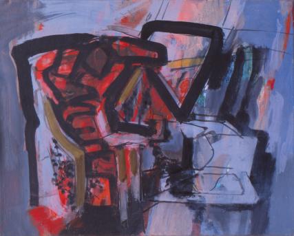 Grace Renzi : N° 328 : acrylic on canvas, 35 x 50 cm.